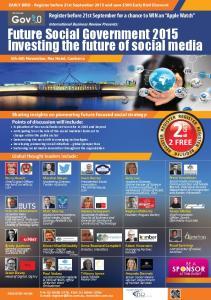 Future Social Government 2015 Investing the future of social media