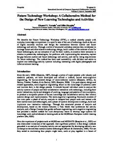 Future Technology Workshop: A Collaborative Method for the Design of New Learning Technologies and Activities