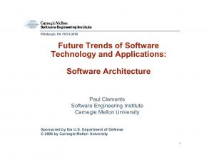 Future Trends of Software Technology and Applications: Software Architecture