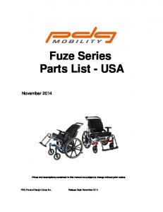 Fuze Series Parts List - USA