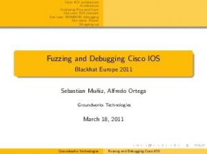Fuzzing and Debugging Cisco IOS