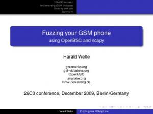 Fuzzing your GSM phone