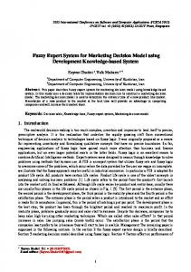 Fuzzy Expert System for Marketing Decision Model using Development Knowledge-based System