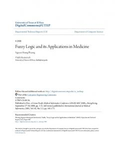 Fuzzy Logic and its Applications in Medicine