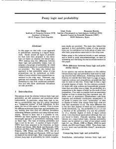 Fuzzy logic and probability