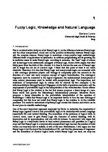Fuzzy Logic, Knowledge and Natural Language