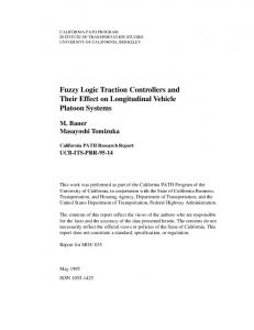 Fuzzy Logic Traction Controllers and Their Effect on Longitudinal Vehicle Platoon Systems