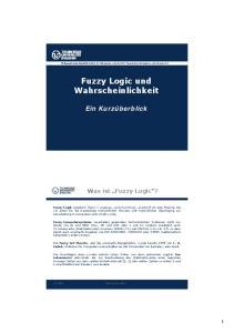 Fuzzy Logic und Wahrscheinlichkeit