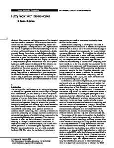 Fuzzy logic with biomolecules