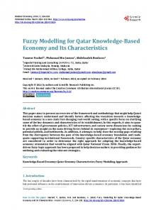 Fuzzy Modelling for Qatar Knowledge-Based Economy and Its Characteristics