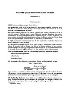 FUZZY SET QUALITATIVE COMPARATIVE ANALYSIS. 1. Introduction