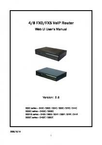 FXS VoIP Router