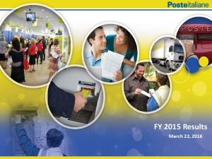 FY 2015 Results. March 22, 2016