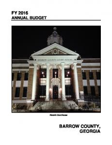 FY 2016 ANNUAL BUDGET