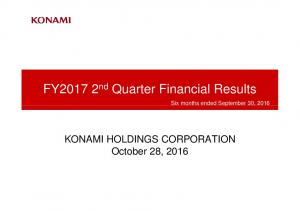 FY nd Quarter Financial Results