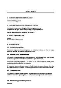g crema 2. COMPOSICION CUALITATIVA Y CUANTITATIVA