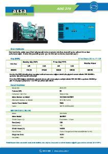 Güç (kva) 3 Faz Sayısı,50 Hz, PF 0.8