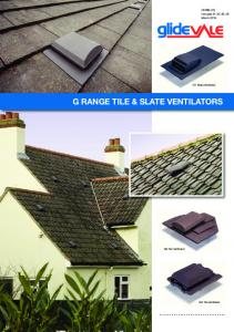 G RANGE TILE & SLATE VENTILATORS