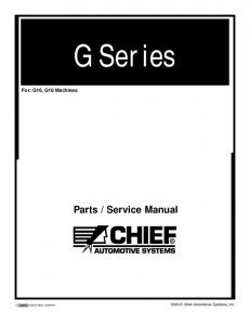G Series For: G16, G18 Machines