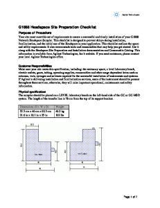 G1888 Headspace Site Preparation Checklist