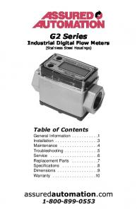 G2 Series. Industrial Digital Flow Meters (Stainless Steel Housings)