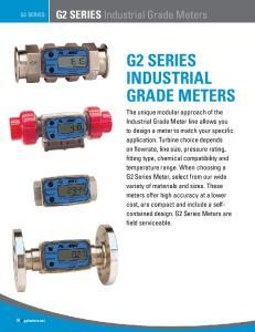 G2 SERIES INDUSTRIAL GRADE METERS