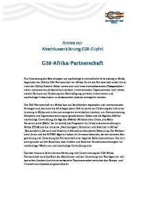 G20-Afrika-Partnerschaft