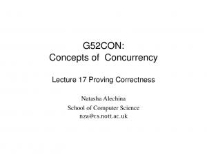G52CON: Concepts of Concurrency