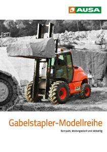 Gabelstapler-Modellreihe. Kompakt, leistungsstark und vielseitig