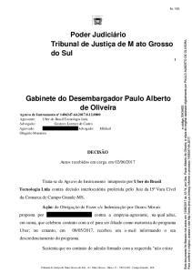 Gabinete do Desembargador Paulo Alberto de Oliveira