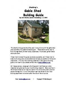 Gable Shed Building Guide