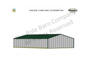 GABLE SIDE 2 3D PERSPECTIVE. The Pole Barn Company All Rights Reserved