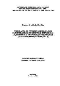 GABRIEL MARCON COELHO Orientador: Prof. Enedir Ghisi, Ph.D