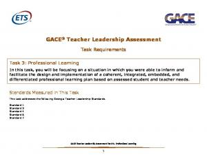 GACE Teacher Leadership Assessment