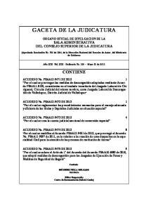 GACETA DE LA JUDICATURA