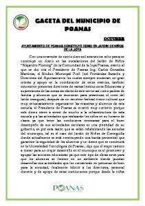 GACETA DEL MUNICIPIO DE POANAS