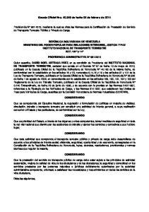 Gaceta Oficial Nro de fecha 05 de febrero de 2014