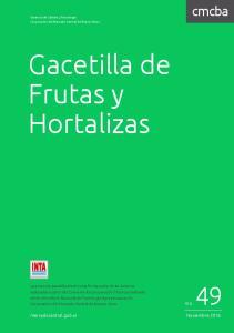 Gacetilla de Frutas y Hortalizas