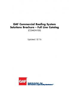 GAF Commercial Roofing System Solutions Brochure Full Line Catalog