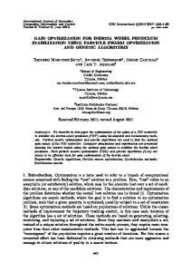 GAIN OPTIMIZATION FOR INERTIA WHEEL PENDULUM STABILIZATION USING PARTICLE SWARM OPTIMIZATION AND GENETIC ALGORITHMS
