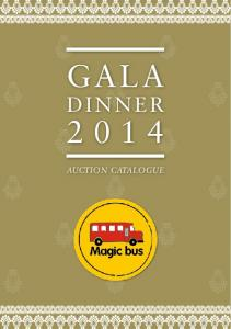 Gala. Dinner AUCTION CATALOGUE