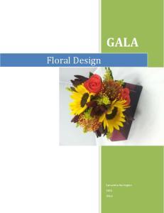 GALA. Floral Design. Samantha Harrington 2015 GALA