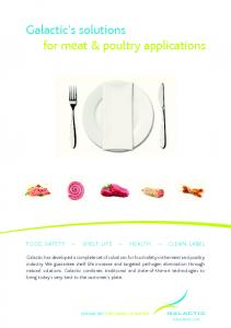 Galactic s solutions for meat & poultry applications