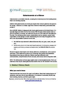 Galactosemia at a Glance