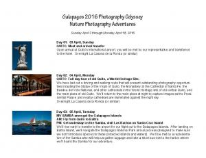 Galapagos 2016 Photography Odyssey Nature Photography Adventures