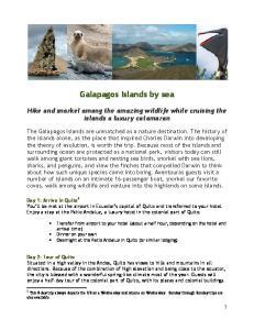 Galapagos Islands by sea