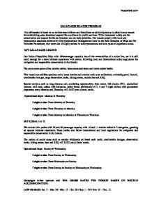 GALAPAGOS ISLANDS PROGRAM