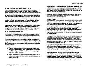 Galatians: Leader s Guide