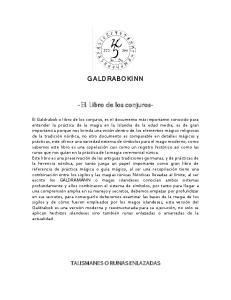 GALDRABOKINN. -EL Libro de los conjuros-
