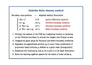 Galerkin finite element method